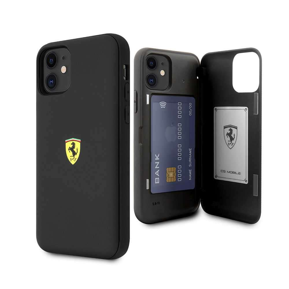 Ferrari On Track PC/TPU Case with Cardslot & Magnetic Clos for iPhone 11