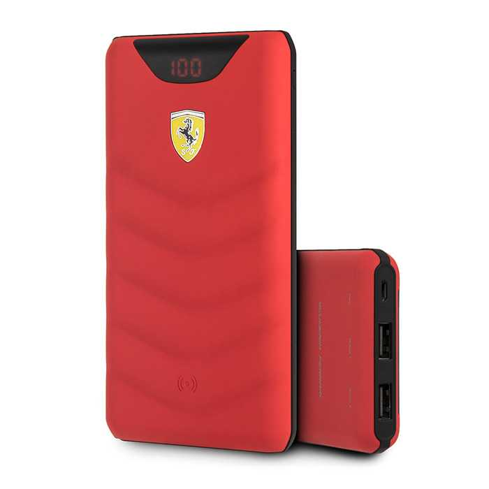 Ferrari On Track Wireless Powerbank 10000mAh Red
