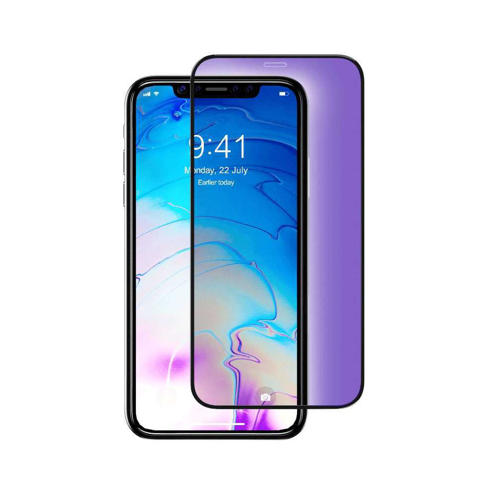 Devia Van Anti-blue Ray Full Tempered Glass for Apple iPhone 11 - Black