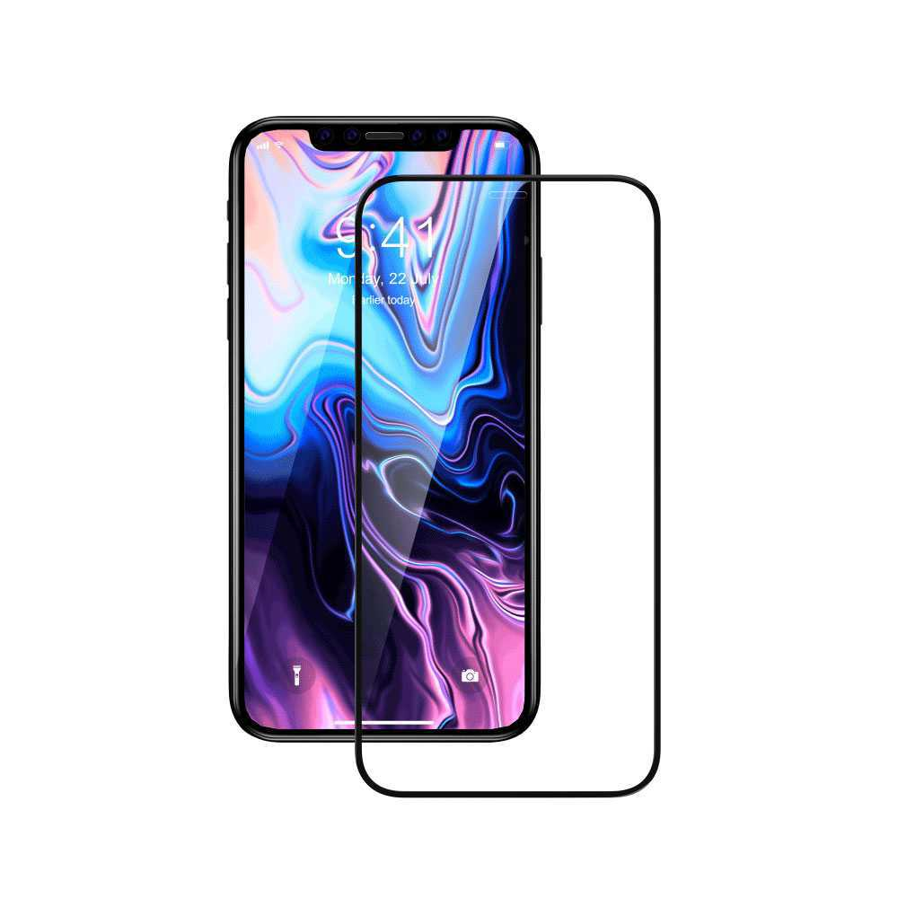Devia Van Entire View Anti-glare Tempered Glass for Apple iPhone 11 Pro - Black