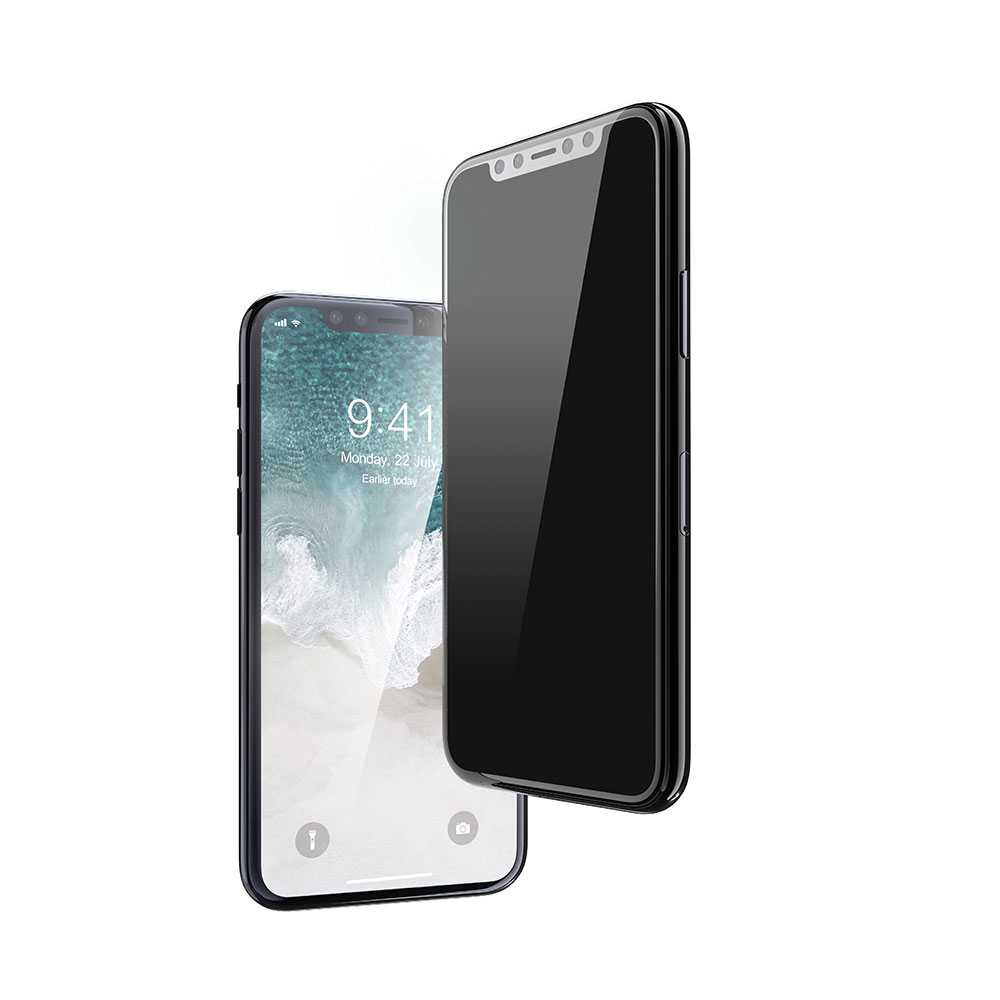 Devia Real Series 3D Full Screen Privacy Tempered Glass for Apple iPhone 11 Pro Max - Black
