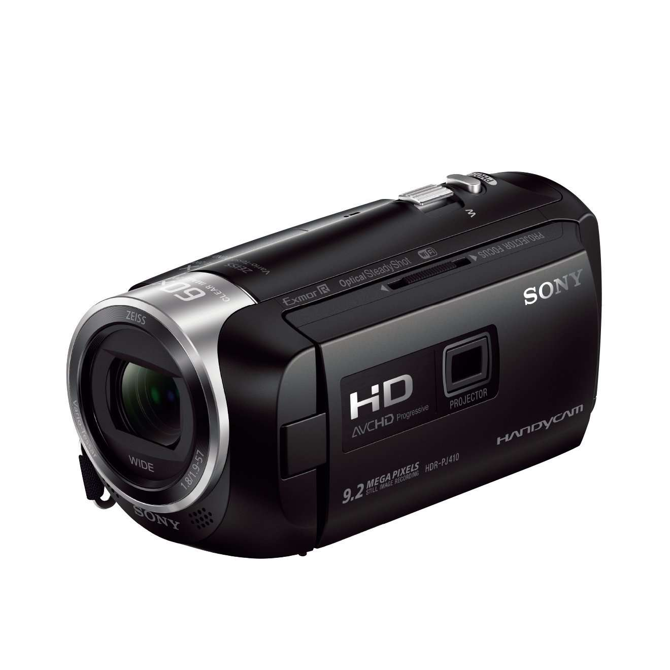 Sony HDR-PJ410 Full HD Video Recording Handycam Camcorder with Built-in Projector Black