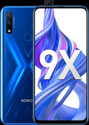 Honor 9X Dual SIM - 128GB, 6GB RAM, 4G LTE, Sapphire Blue