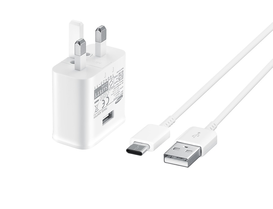 Samsung 15W Travel Adapter with Type-C to USB - White (EP-TA20UWE)