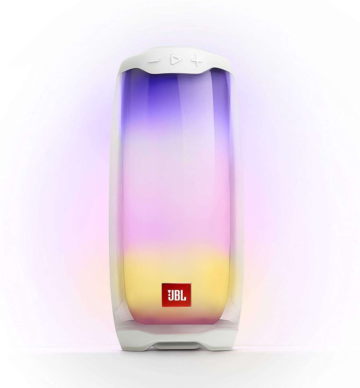 JBL Pulse 4 Waterproof Portable Bluetooth Speaker with Light Show - White