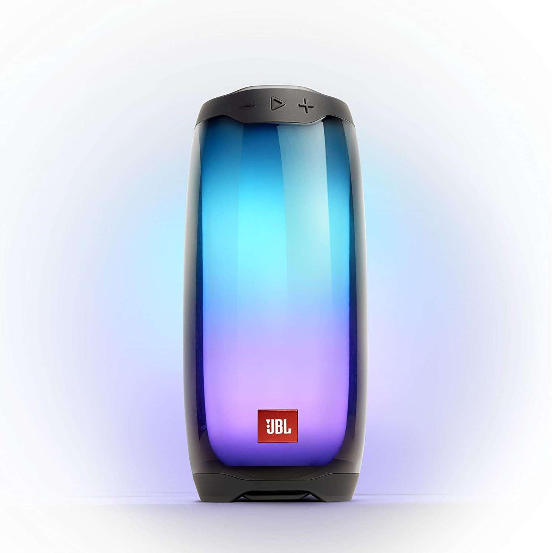 JBL Pulse 4 Waterproof Portable Bluetooth Speaker with Light Show - Black