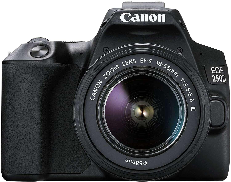 Canon EOS 250D EF-s 18-55mm f/4-5.6 DC III Lens - Black