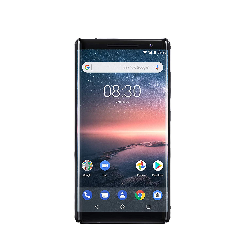 Nokia 8 Sirocco - 128GB, 6GB RAM, 4G LTE, Black
