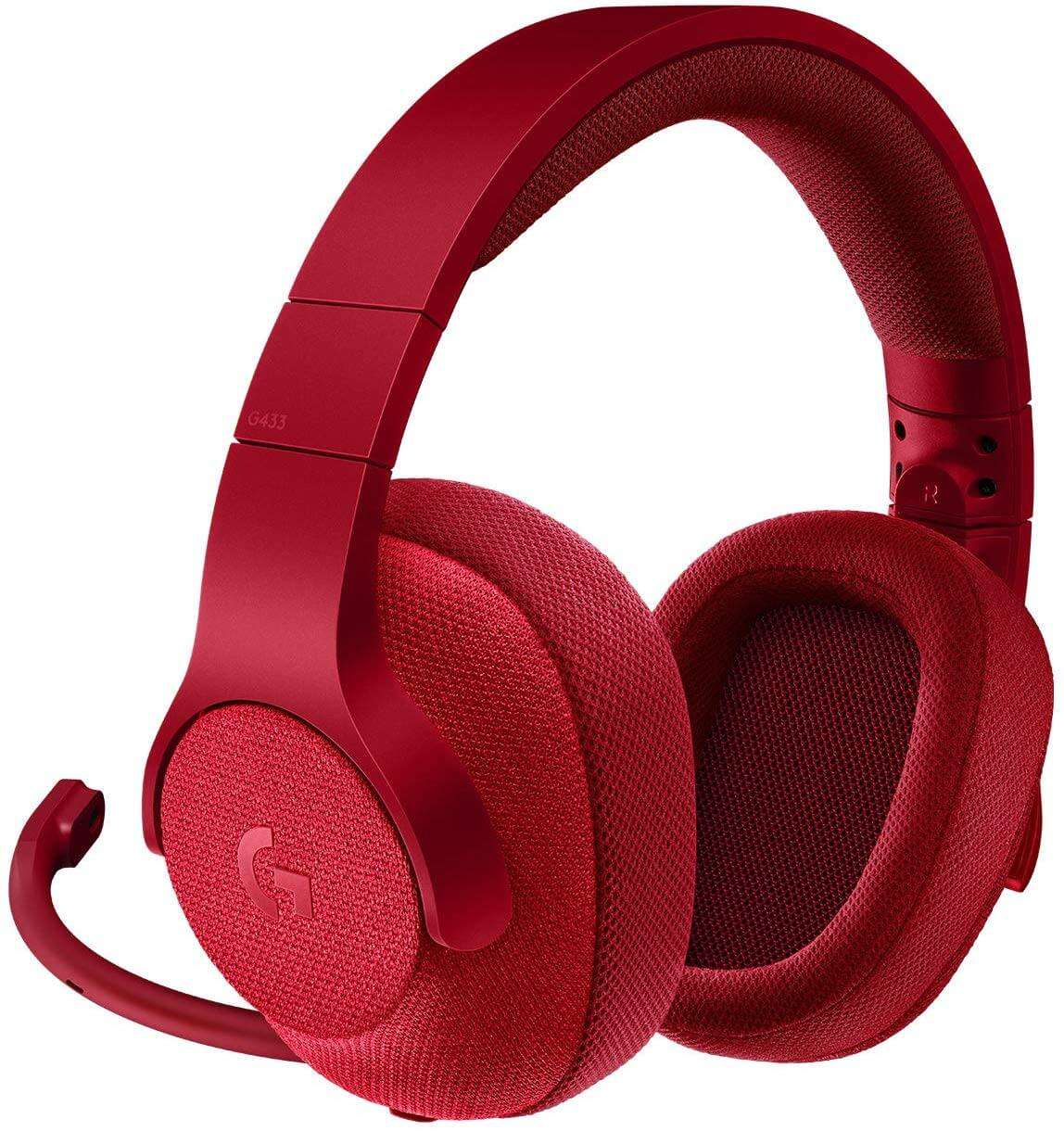 Logitech G433 Wired Gaming Headset - Fire Red