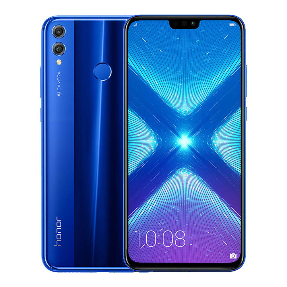 Honor 8X Dual SIM - 128GB, 4GB RAM, 4G LTE, Blue