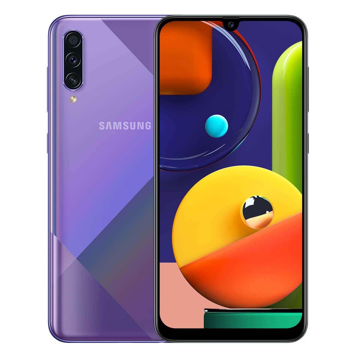 Samsung Galaxy A50s Dual Sim,128 GB, 6GB RAM,4G LTE, Prism Crush Violet
