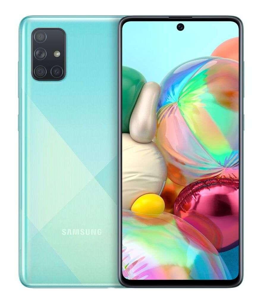 Samsung Galaxy A71 Dual SIM, 128GB, 8GB RAM, 4G LTE, Prism Crush Blue
