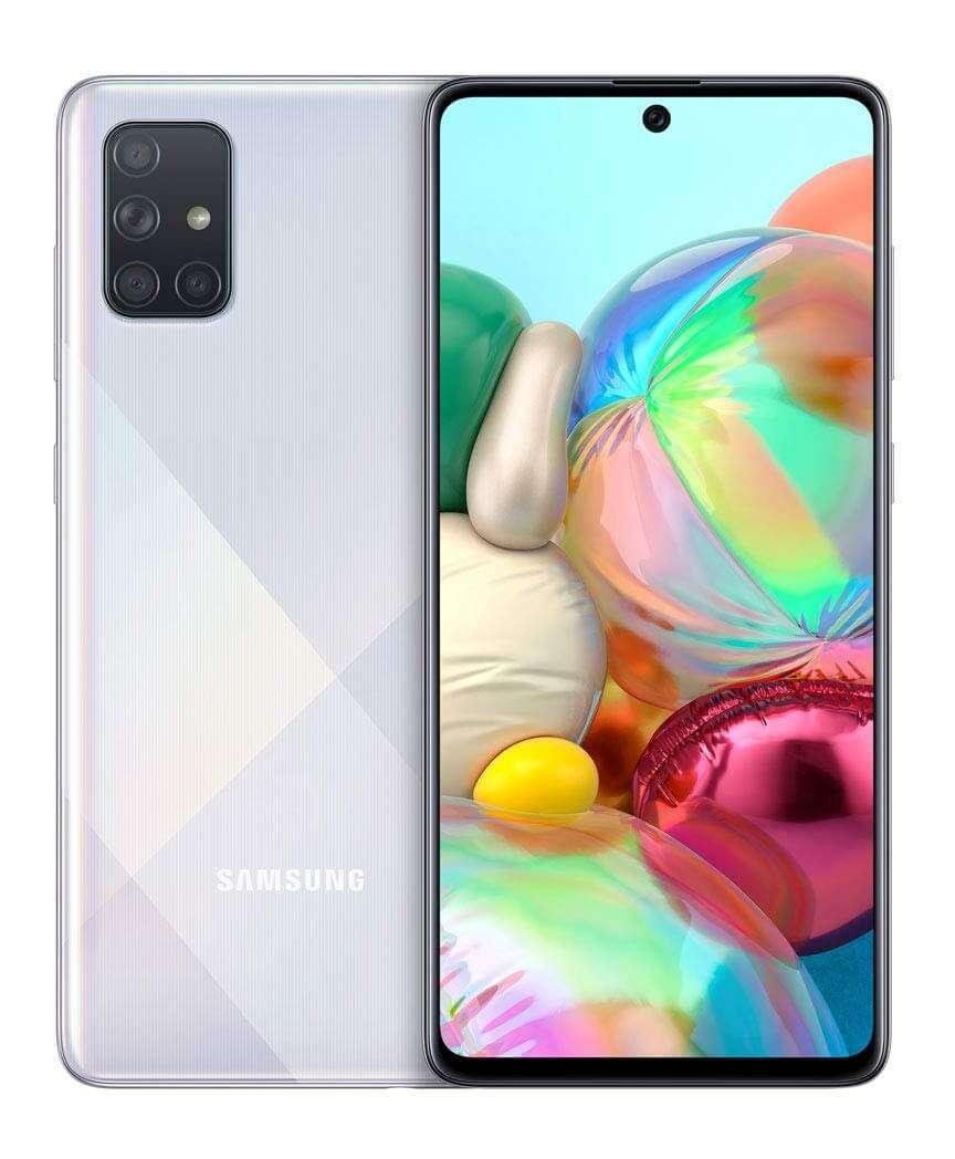 Samsung Galaxy A71 Dual SIM, 128GB, 8GB RAM, 4G LTE, Prism Crush Silver