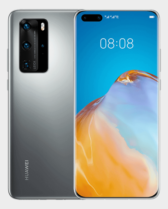Huawei P40 Pro Dual SIM - 256GB, 8GB RAM, 5G, Silver Frost