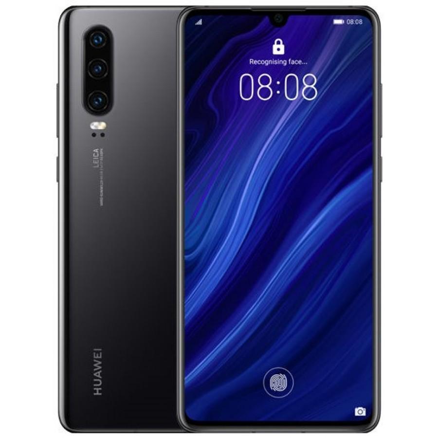 Huawei P30 Dual SIM - 128GB, 8GB RAM, 4G LTE, Black