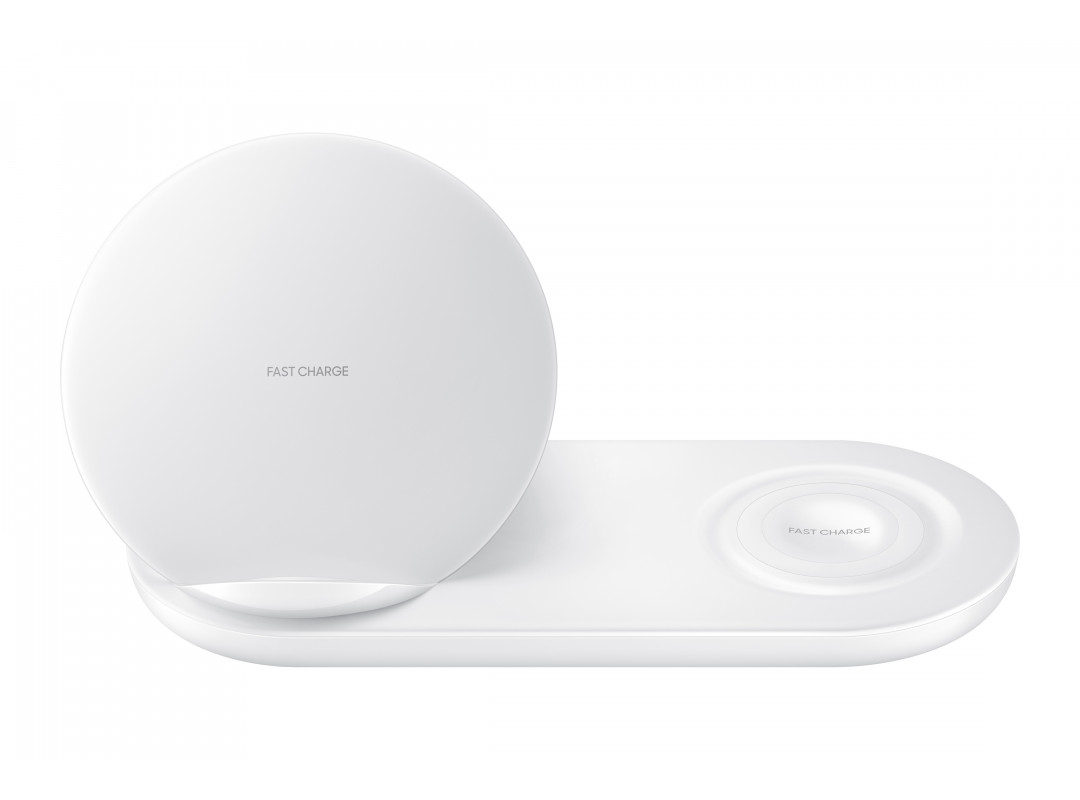 Samsung Wireless Charger Duo With Wall Charger - White (EP-N6100TW)