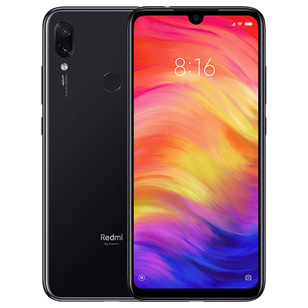 Xiaomi Redmi Note 7 Dual SIM - 64GB, 4GB RAM, 4G LTE, Black Global Versia