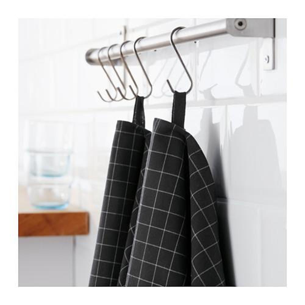 IKEA 365+ Tea towel, black, 50x70 cm