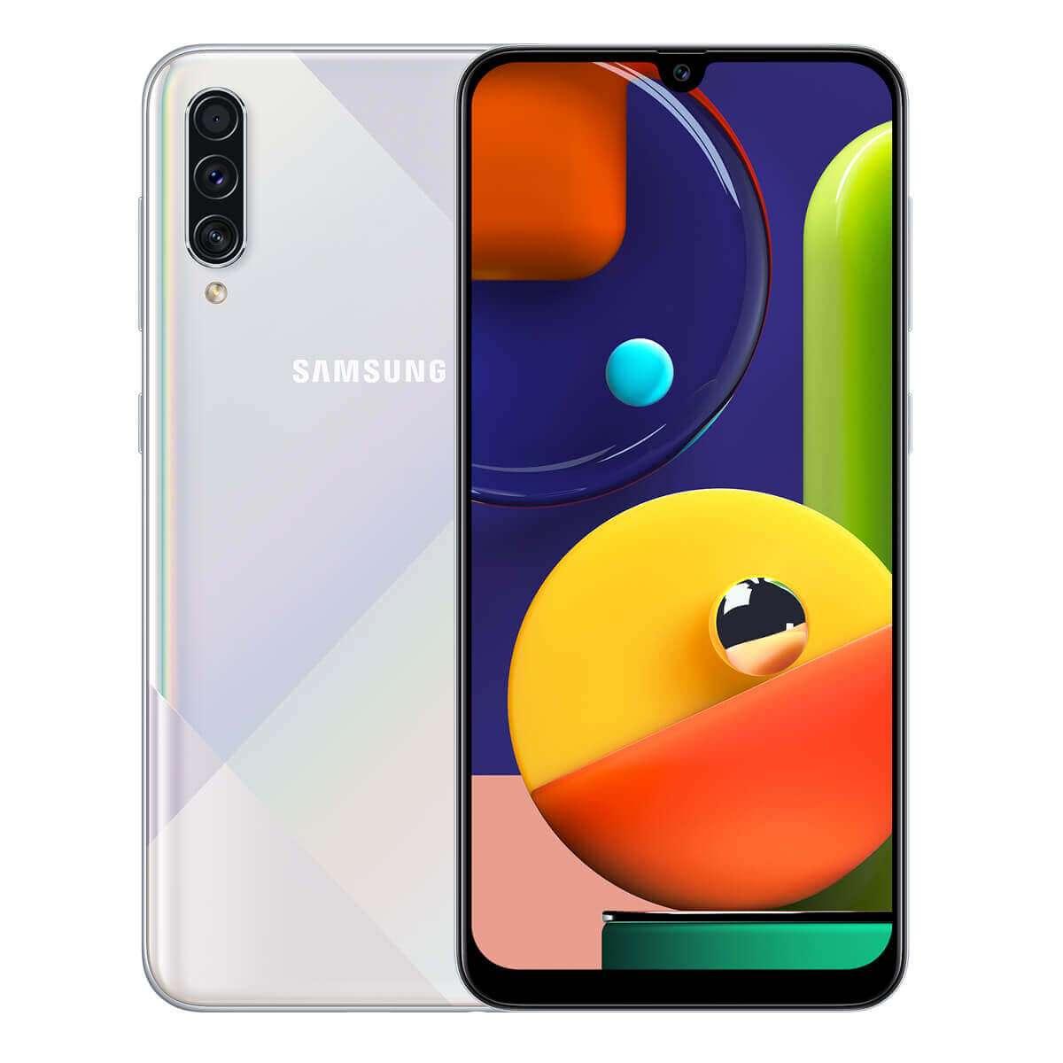 Samsung Galaxy A50s Dual Sim,128 GB, 6GB RAM,4G LTE, Prism Crush White