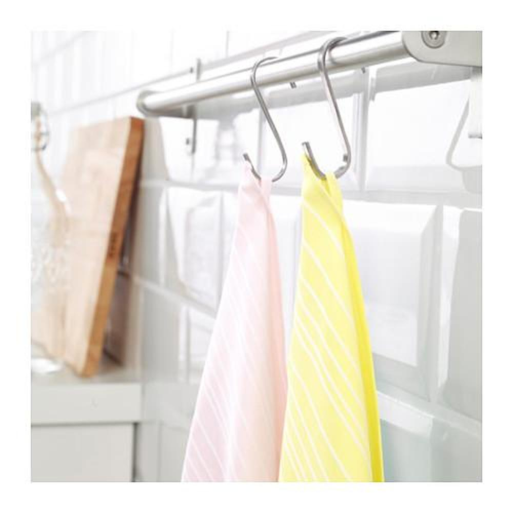 TIMVISARE Tea towel, yellow, light pink, 50x70 cm