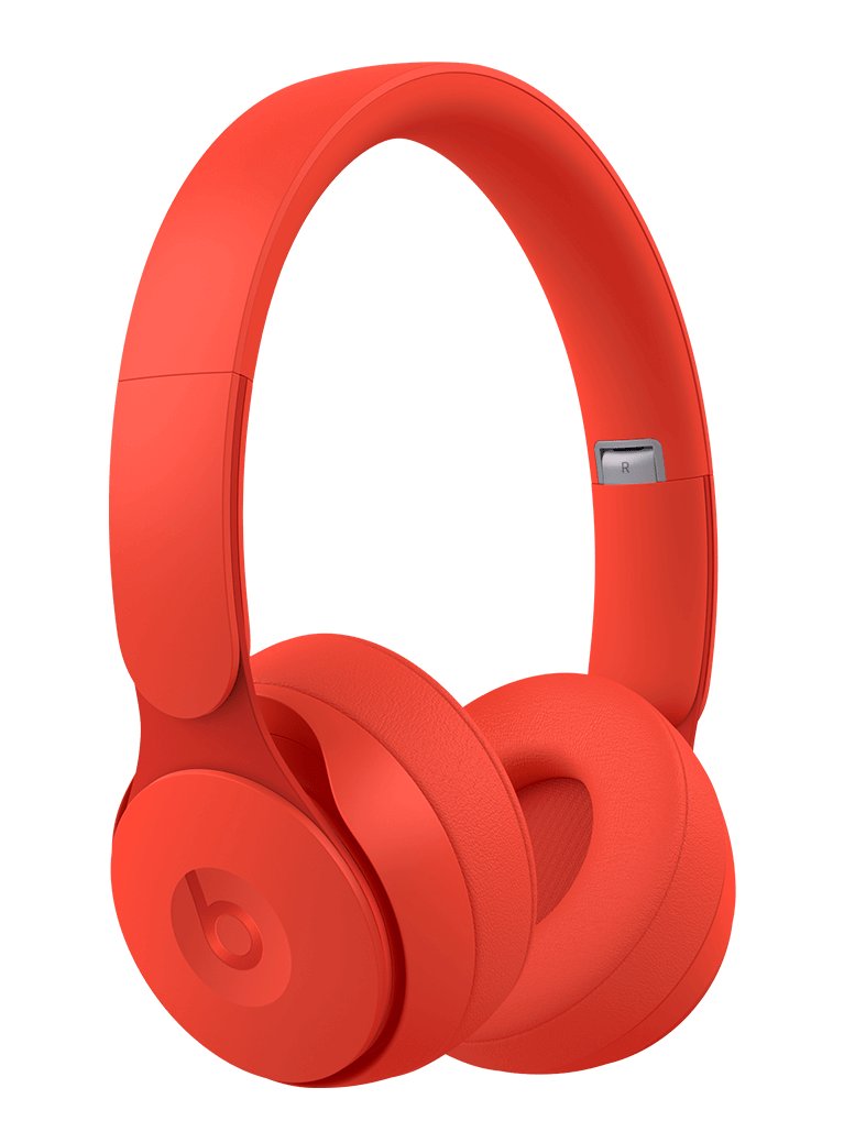 Beats Solo Pro Wireless Noise Cancelling On-Ear Headphones - Red