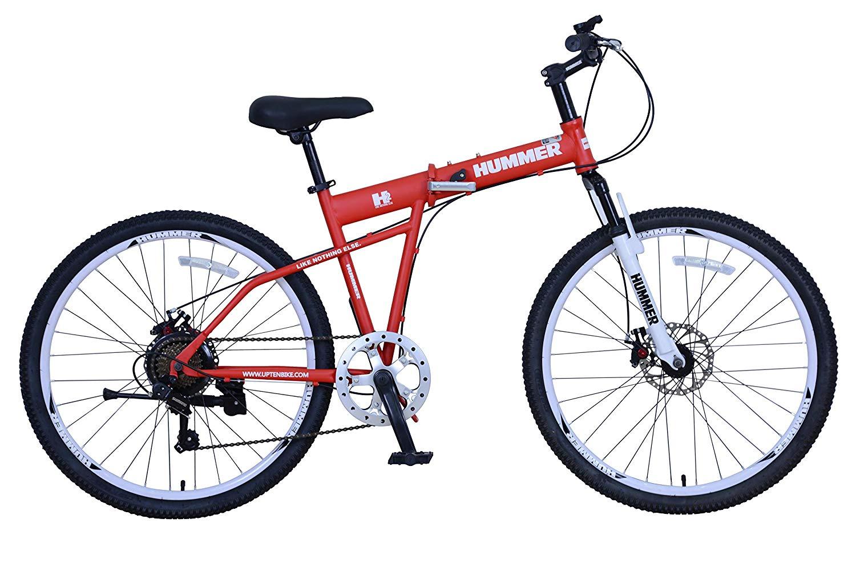 UPTEN Hummer Foldable Mountain Bike 26-Inch Matt Red
