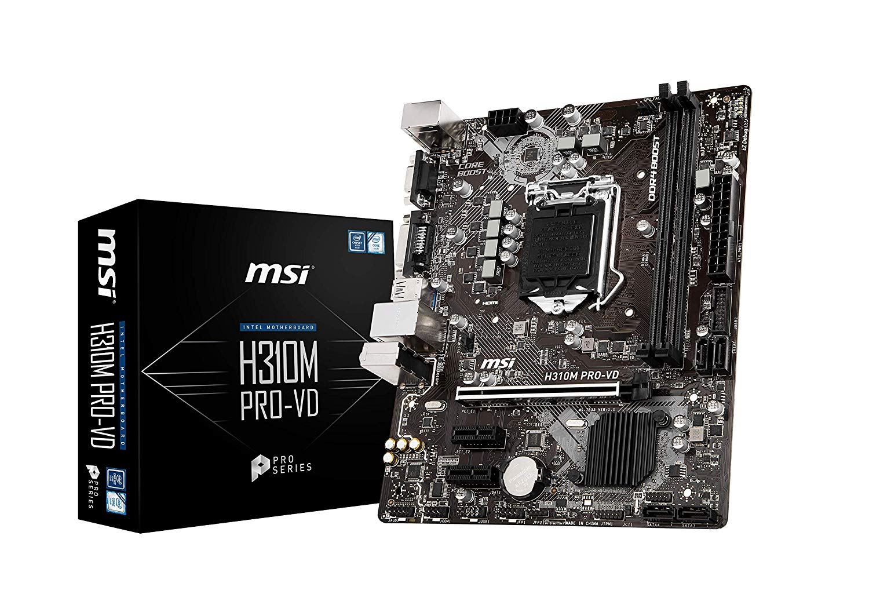 INTEL H310M PRO-VD LGA1151/M-ATX MSI Motherboard - Black