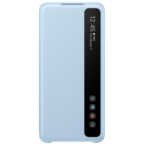 Samsung Smart Clear View Cover for Galaxy S20, Sky Blue