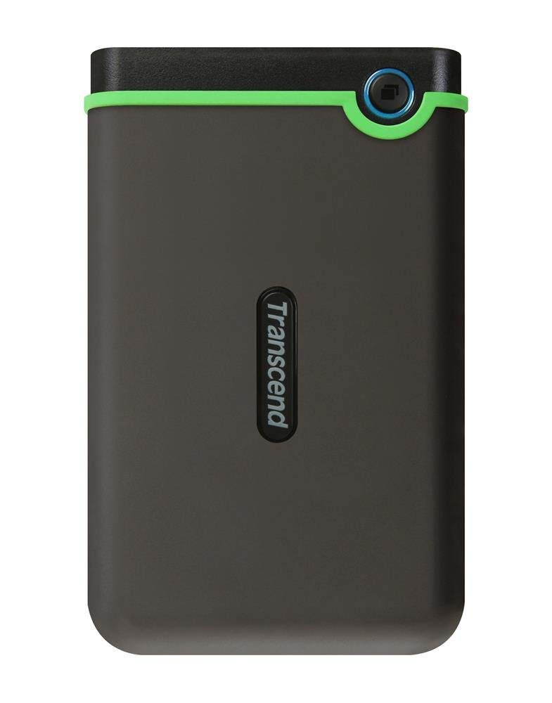 Transcend 1TB StoreJet TS1TSJ25M3 Anti-Shock External Hard Drive (Iron Gray)