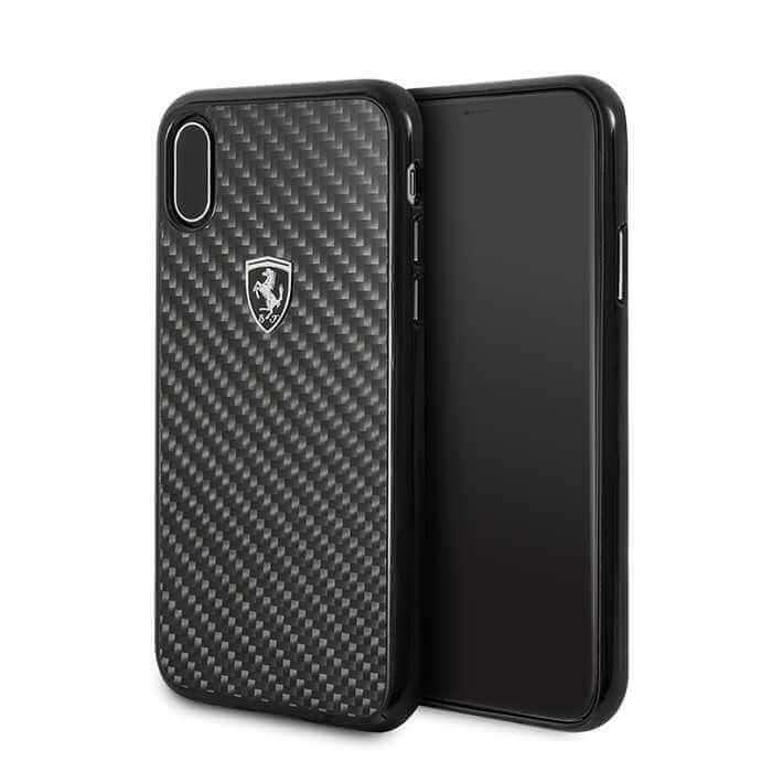 Ferrari Heritage Real Carbon Hard Case for iPhone X - Black