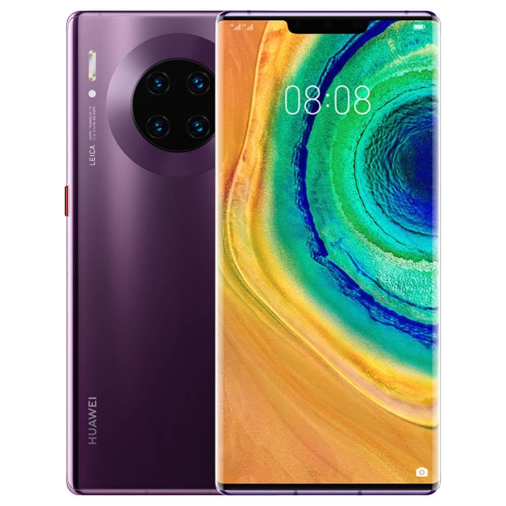 Huawei Mate 30 Pro Dual SIM - 256GB, 8GB RAM, 4G LTE, Cosmic Purple