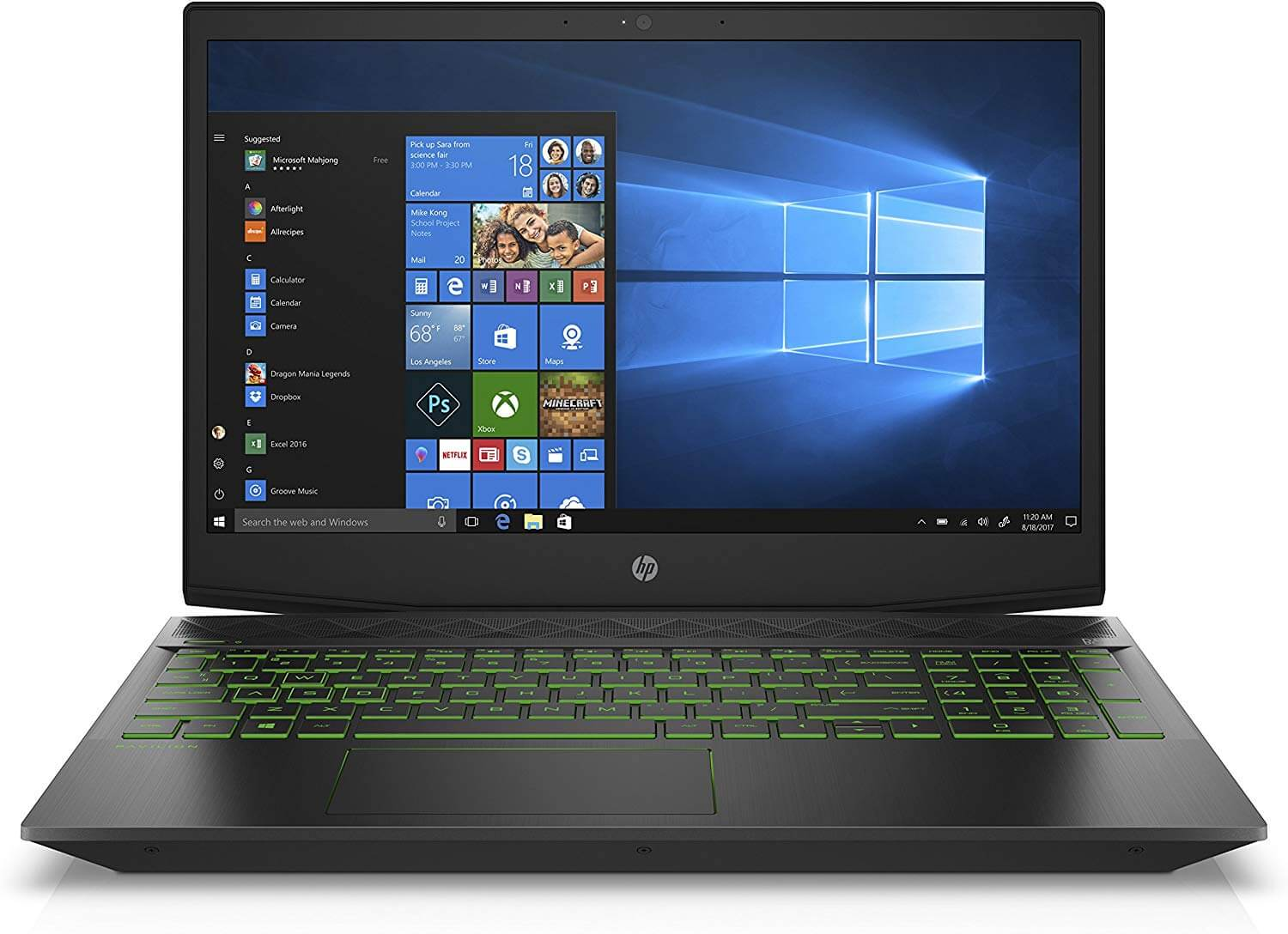 HP Pavilion 15-cx0020ne Notebook With 15.6-Inch Display, Core i7 Processor/16GB RAM/1TB HDD/4GB NVIDIA GeForce GTX 1050 Graphic Card With English/Arabic Keyboard Black