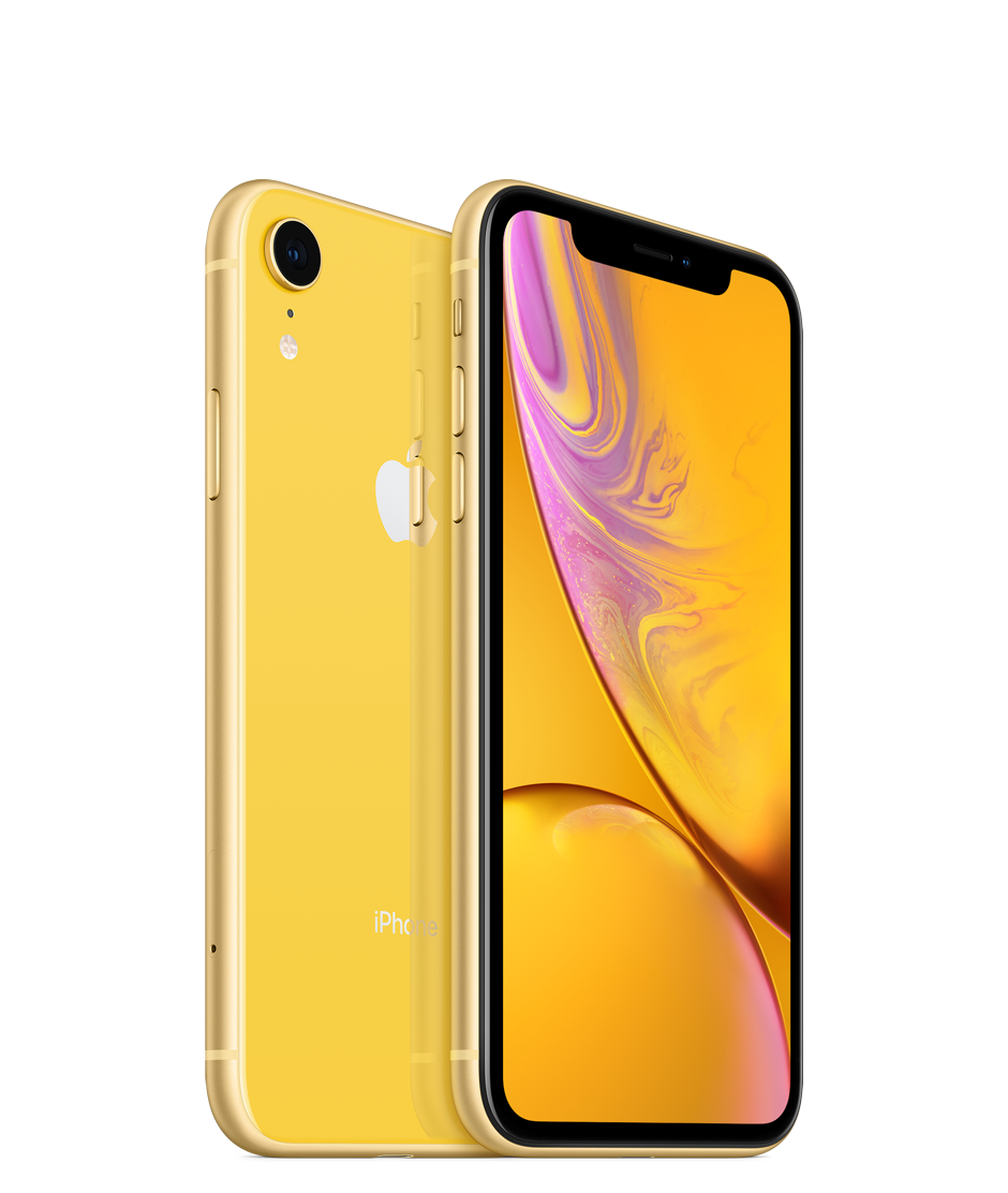 Apple iPhone XR with Face Time - 64GB, 4G LTE, Yellow
