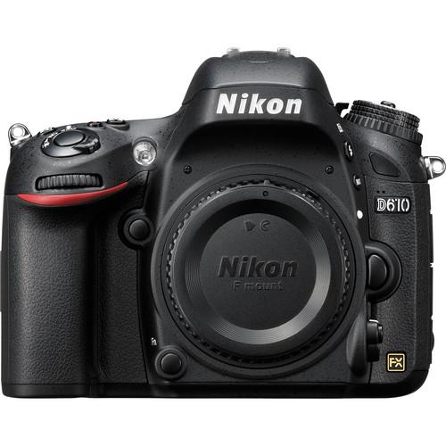 Nikon D610 DSLR Camera Body Only (Black)