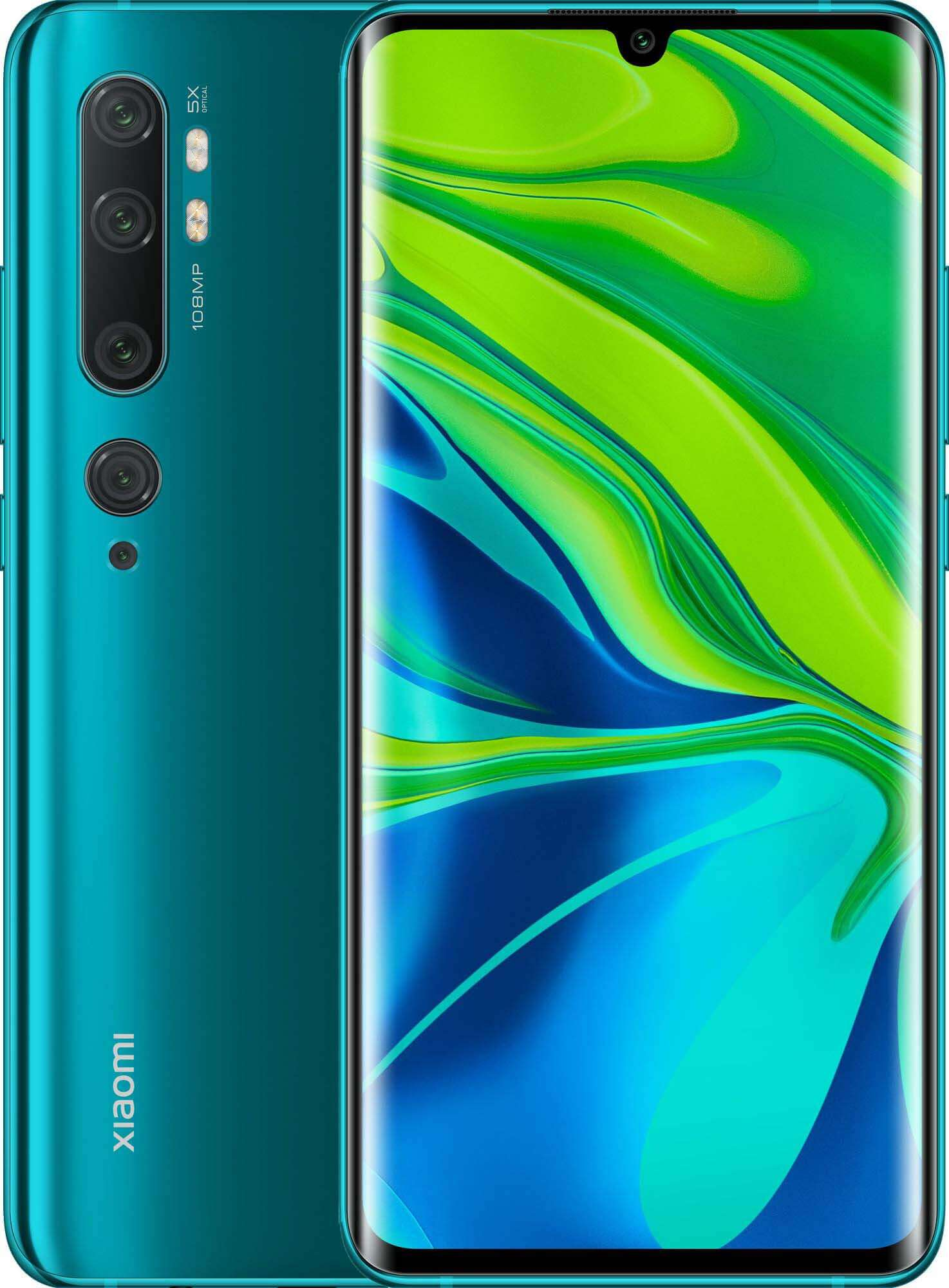 Xiaomi Mi Note 10 Pro Dual SIM - 256GB, 8GB RAM, 4G LTE, Global Version - Aurora Green