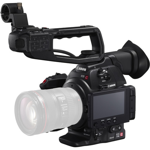 Canon EOS C100 Mark II Cinema EOS Camera with Dual Pixel CMOS AF Body Only (Black)