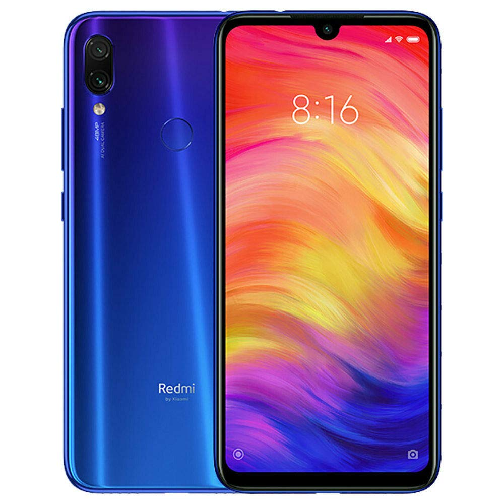 Xiaomi Redmi Note 7 Dual SIM - 32GB, 3GB RAM, 4G LTE, Blue Global Versia
