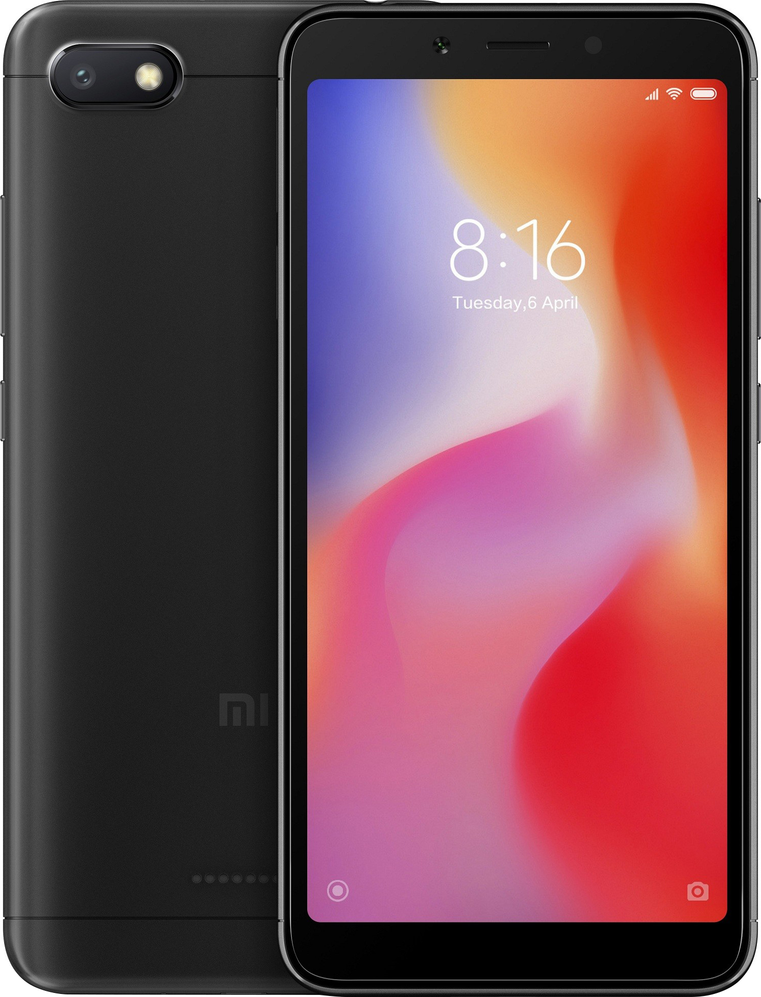 Xiaomi Redmi 6A Dual SIM - 16GB, 2GB RAM, 4G LTE, Black Global Versia