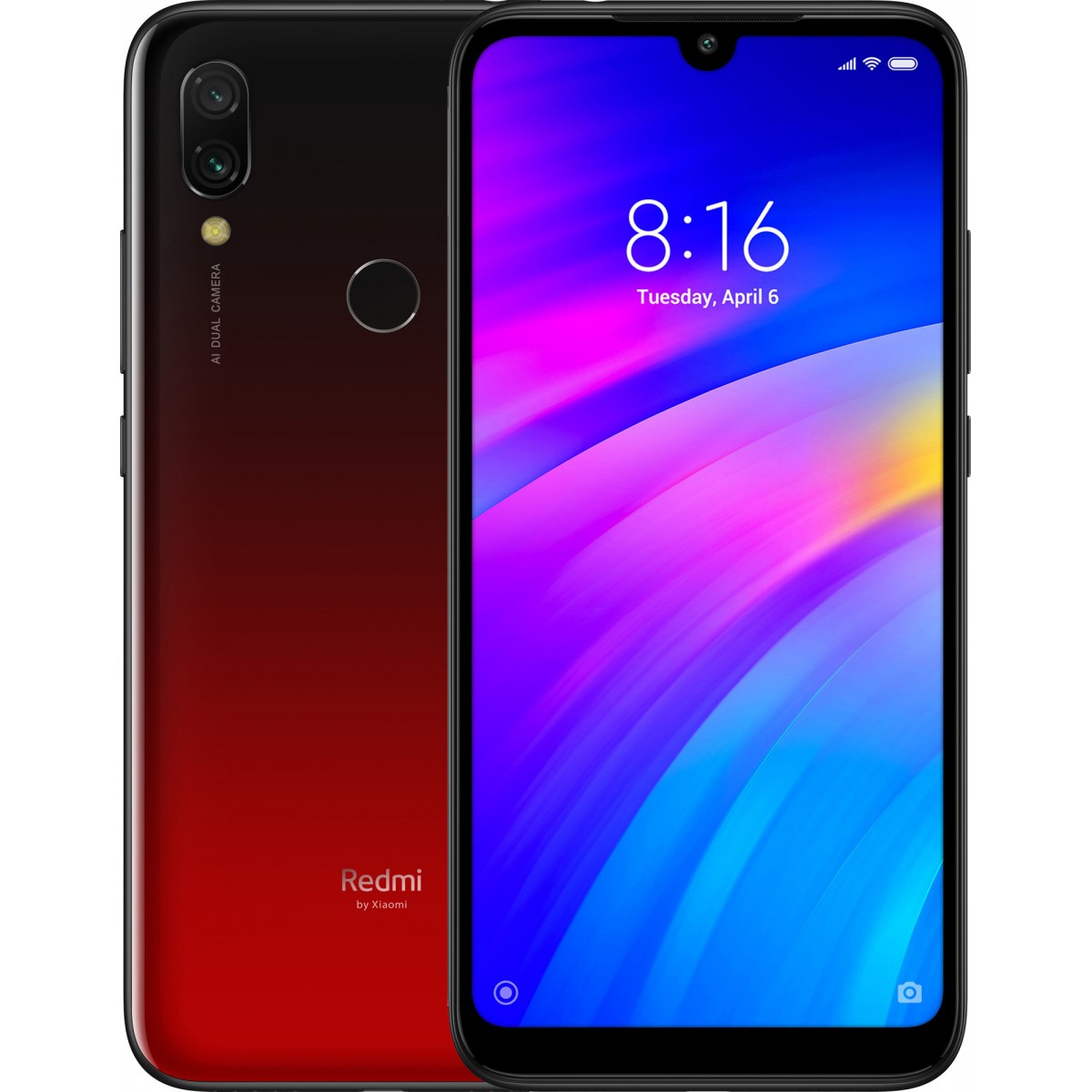 Xiaomi Redmi 7 Dual SIM - 16GB, 2GB RAM, 4G LTE, Red Global Versia