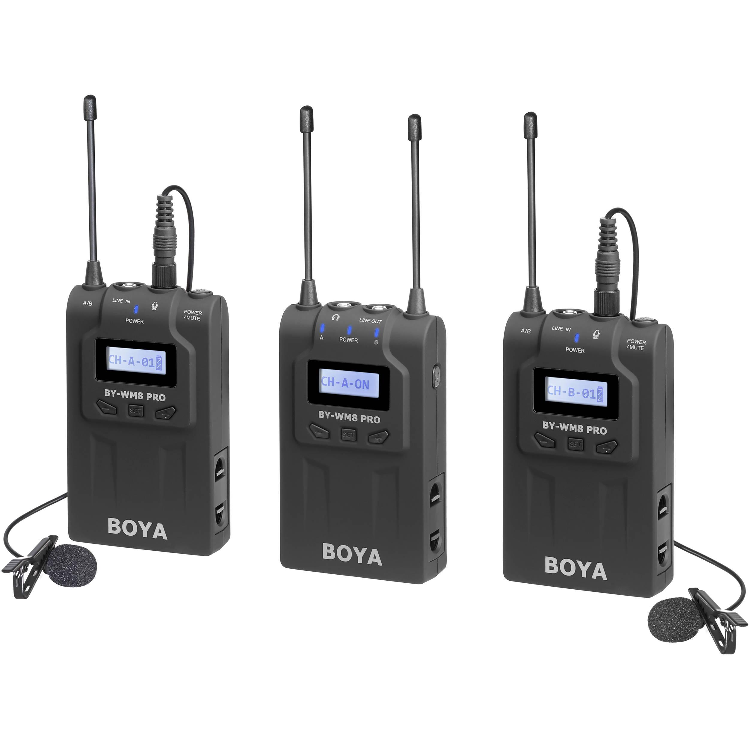 BOYA BY-WM8 Pro-K2 New Wireless Microphone System Black