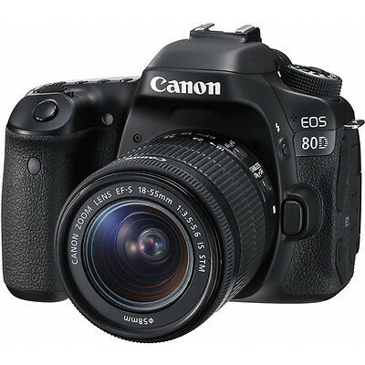 Canon EOS 80D DSLR Camera with 18-55mm Lens (Black)