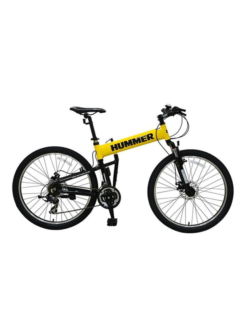 UPTEN Hummer Foldable Mountain Bike 26-Inch Yellow