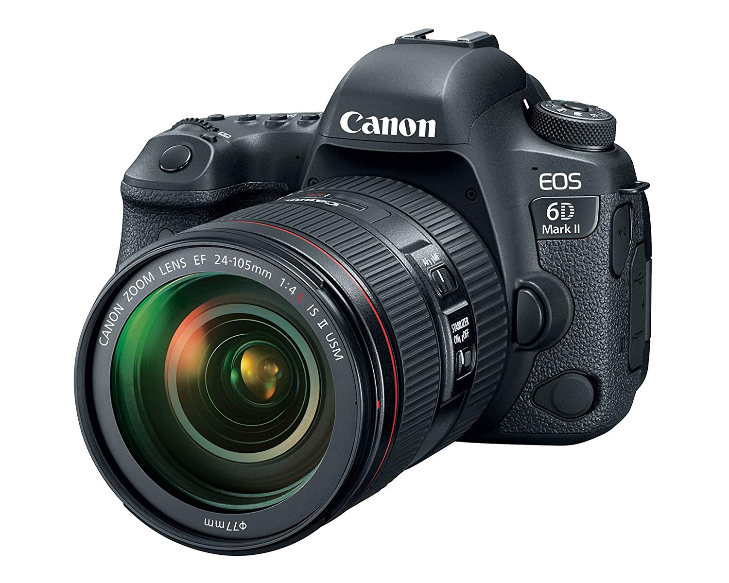 Canon EOS 6D Mark II DSLR Camera with 24-105mm f/4L II Lens (Black)