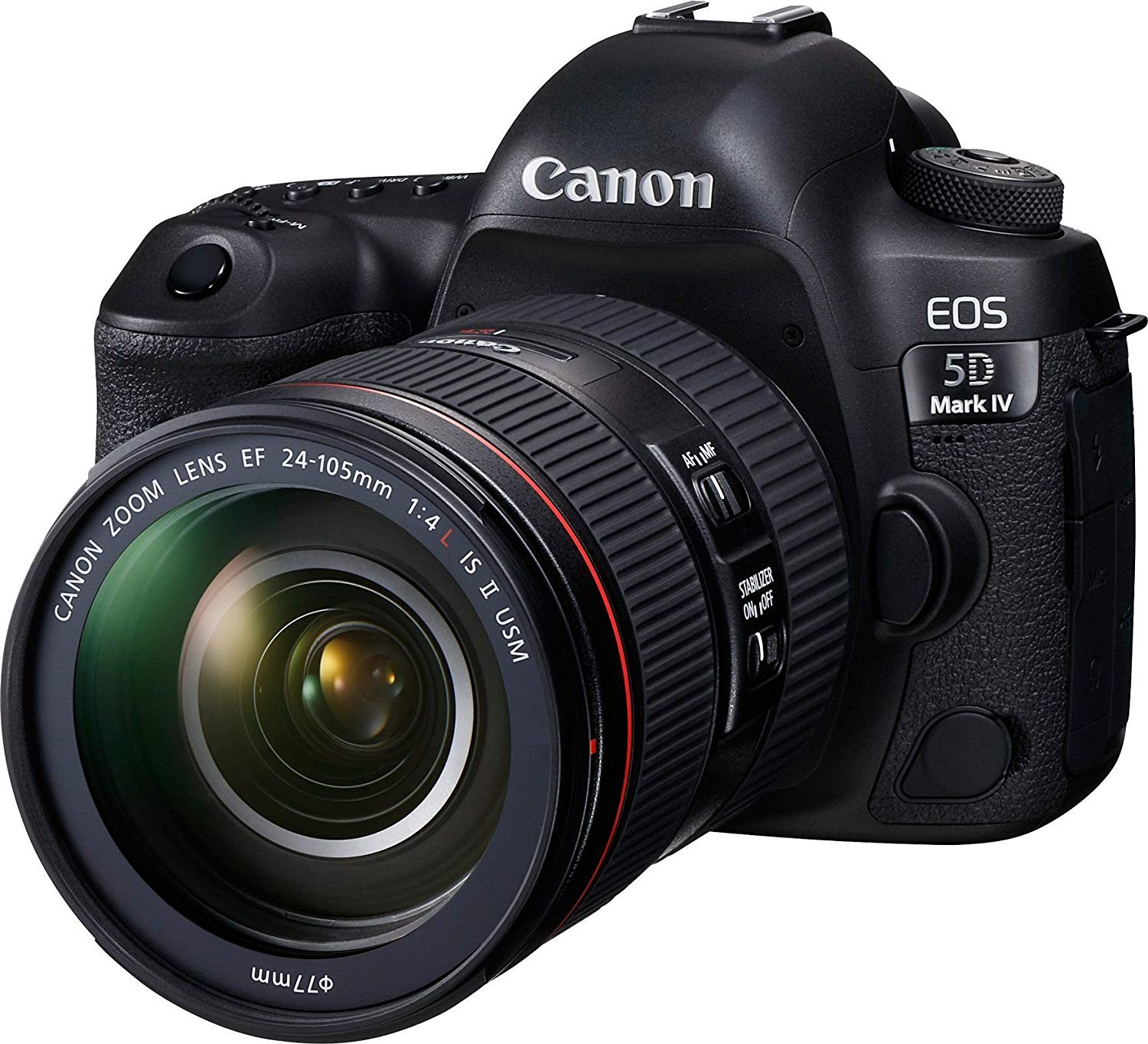 Canon EOS 5D Mark IV DSLR Camera with 24-105mm f/4L II Lens (Black)