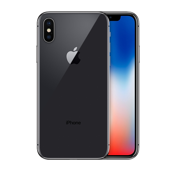 Apple iPhone X with FaceTime - 64GB, 4G LTE, Space Gray